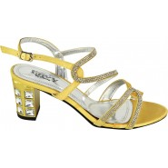 Darlyne mid heeled diamante party sandals
