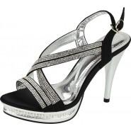 Essie sling-back diamante party sandals , Peep toe