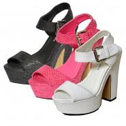 Amy chunky high heel platform sandals ,  snake detail