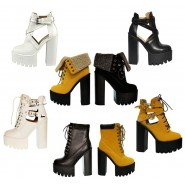 Lally High heeled platform shoe bootie
