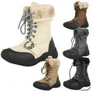 Cass diamante lace up girls snow boot
